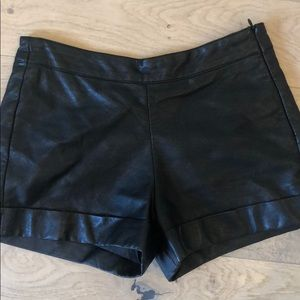 French connection leather shorts